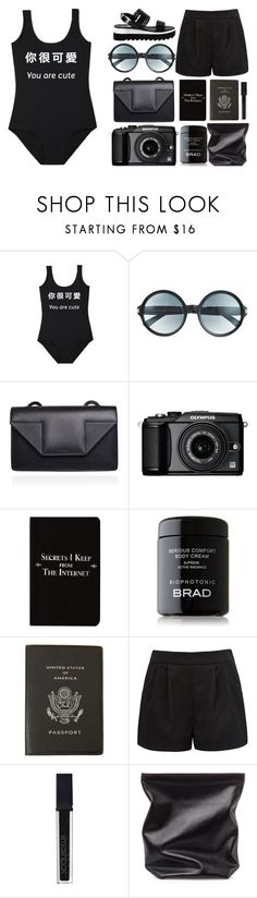 """""""ONCE I WAS 7 YEARS OLD"""" by ashola18 ❤ liked on Polyvore featuring Tom Ford, Yves Saint Laurent, Olympus, Rich and Damned, Smythson, Forever New, Smashbox, Jil Sander and Love Moschino"""