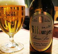 Bitburger - from Germany. Pilsner, dark, and more varieties. Very good.