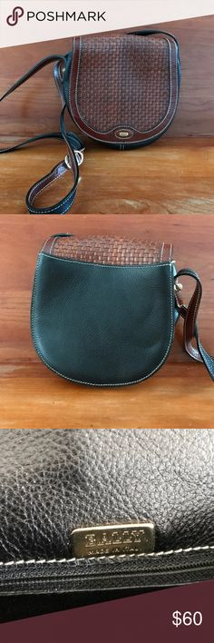 Bally purse. Brown and black. Bally purse. Brown and black. Never used.  Cross body. Made in Italy. 7.5 in x 7 in x 3 in. Vintage. Bally Bags Shoulder Bags