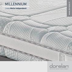 Per un comfort assolutamente personalizzato, Millennium è disponibile in due versioni: Firm, per chi ama un supporto normale, e Soft, per chi preferisce un sostegno leggero. #materassi #Dorelan #Millennium #dormirebene