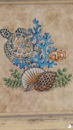 Ancient Maps, Watercolor Art Lessons, Turkish Art, Pin Art, Alcohol Ink Art, Colorful Fish, Beach Crafts, Chalk Art, Beach Art