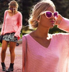COLORFUL SUNGLASSES (by Elin Hansson) http://lookbook.nu/look/4667173-COLORFUL-SUNGLASSES