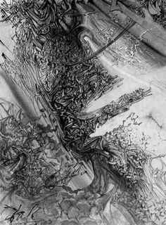 Angel pi-mesónico - Salvador Dalí - 1958. Acuarela sobre papel. 40.6 x 30.5 cm. Préstamo de E. y A. Reynolds Morse. The Salvador Dalí Museum. San Petersburgo. Florida. USA