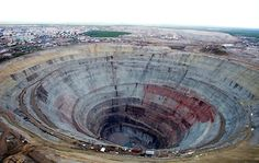 (2. Mirny Diamond Mine, Russia -continued):  Photo: Google