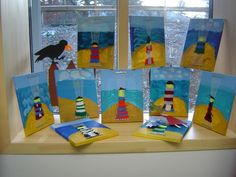grundschule-p. Lighthouse Keepers Lunch, Summer Arts And Crafts, Textiles, Weaving Projects, Art Lessons Elementary, Arts Ed, Art School, Projects To Try, Painting