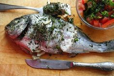 Dorada With Fennel And Tomato Salad Garnish Recipe ~ Food Network Recipes