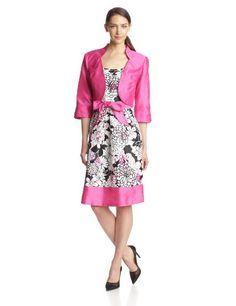 Dana Kay Women's 3/4 Sleeve Flower Print Flare Dress, Fuchsia/Black, 8 Dana Kay,http://www.amazon.com/dp/B00GTCO0PO/ref=cm_sw_r_pi_dp_F81etb0SRG8J28SP