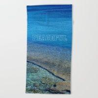 Peaceful - Greece Beach Towel