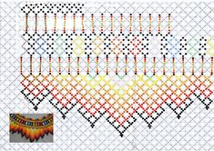 Beading Patterns Free, Bead Loom Patterns, Jewelry Patterns, Cross Stitch Patterns, Cross Stitch Rose, Cross Stitch Flowers, Seed Bead Flowers, Seed Beads, Beaded Embroidery