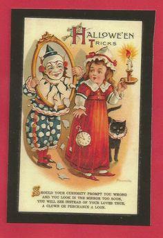 Vintage Halloween Postcard Kitchen Magnet PC9   eBay