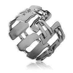 Cubistic silver ring by Liat Waldman