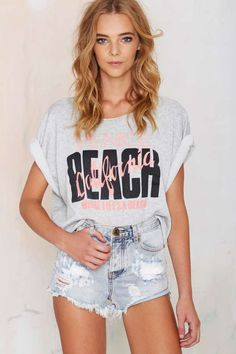 Vintage Venice Beach Cropped Sweatshirt