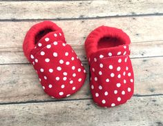 Red & White Polka Dot Tribal Baby Toddler by WithinThePines