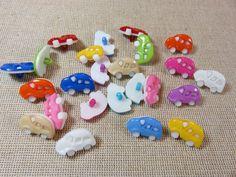 25pcs, Boutons voiture, boutons enfants, boutons auto 17mm, couleur mixte, lot de 25 boutons à anneaux, voiture rouge rose, boutons layette de la boutique ArtKen6L sur Etsy