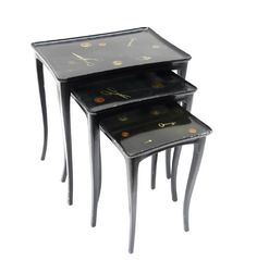 Nest of Three Decorated Tables : Lot 486