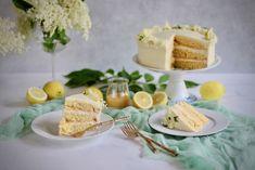 Citrónovo - bazová torta - recept od Coolinári | food blog
