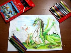 The Dragon by Dhony Teguh media: Faber-Castell Watercolor Pencil