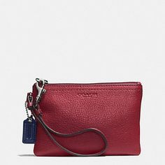 """NWT Coach Crimson Leather Wristlet NWT Coach Crimson Leather Wristlet.  Measures approx 6 1/2"""" in length & 4 1/2"""" in height- a perfect gift for Valentines Day!!!! :))) Coach Bags"""