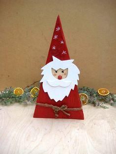 Weihnachtsdeko - XXL Landhaus Weihnachtsmann / Nikolaus, 42 cm - ein Designerstück von Sternenglanz-Clemens bei DaWanda