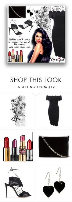 """""""Off the shoulder dress"""" by fab-fashion-world ❤ liked on Polyvore featuring Pennyblack, Oliver Gal Artist Co., Witchery, Casadei, goodvibesonly and fabfashionworld"""