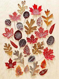 Maquillage de feuilles - Les cahiers de Joséphine