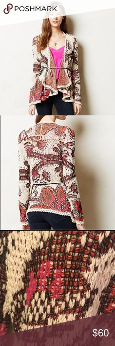 Moth Pleiades Cardigan Never worn.  Excellent condition!  Beautiful inside and out. The waist ties had poms on the ends that are no longer attached. Anthropologie Sweaters Cardigans