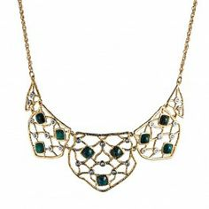 Mosaic Small Lace Bib Necklace