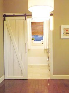 Sliding barn door - I want for my Laundry Room!