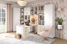 individual home office with cosy atmosphere