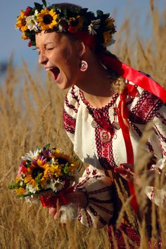 Ukrainian Wedding. I would so do this.                                                                                                                                                                                 More