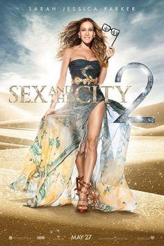 """E para finalizar: o vestido do poster do filme """"Sex and the City 2"""". Sarah Jessica Parker linda como sempre!!! E o vestido super diferente, gostei da produção. E vocês???"""