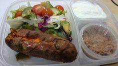 Salad, sweet potato , tuna and yoghurt 12 Week Challenge, Daily Meals, Tuna, Sweet Potato, Potatoes, Beef, Salad, Healthy, How To Make