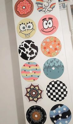 Cd Wall Art, Record Wall Art, Wall Collage, Indie Room Decor, Cute Bedroom Decor, Aesthetic Room Decor, Cute Canvas Paintings, Mini Canvas Art, Diy Canvas