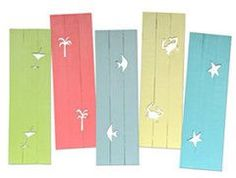 Cool shutters for beach cottages in tons of colors.....