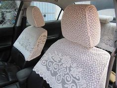 Doilies would save your car seats from stains.