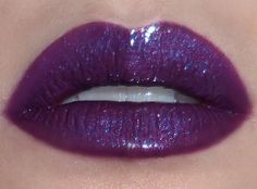 How to Apply a Dramatic, Glossy Lip (featuring Lime Crime Kaleidoscope Carousel Gloss) --- [Pictured with flash: Lime Crime Carousel Gloss in Kaleidoscope over Make Up Store Jazzy Lip Pencil] Thicker,. Makeup Box, Lip Makeup, Beauty Makeup, Lime Crime, Purple Lipstick, Makeup Store, Glossy Lips, Lip Pencil, Lip Art