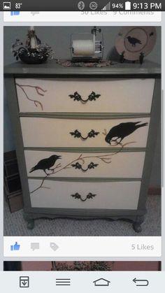 Primitive design dresser