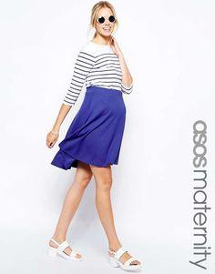 ASOS maternity | ASOS Maternity Full Midi Skater Skirt #asosmaternity #skirt