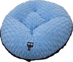 BESSIE AND BARNIE 24-Inch Bagel Bed for Pets, X-Small, Black Puma/Blue Sky -- Check this awesome image  (This is an amazon affiliate link. I may earn commission from it)