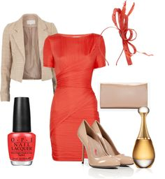 Autumn outfits for work; I pinned this because i think its a bold color for Autumn.