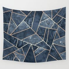 Soft Dark Blue Stone Wall Tapestry by Elisabeth Fredriksson. Worldwide shipping available at Society6.com. Just one of millions of high quality products available.