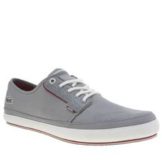Lacoste Light Grey Saulieu Mens Trainers Keep your style casual and cool this season with the Lacoste Saulieu as it lands at schuh. This slick plimsoll arrives in grey fabric with leather accents and subtle hints of red for a pop of colour.  http://www.MightGet.com/january-2017-13/lacoste-light-grey-saulieu-mens-trainers.asp