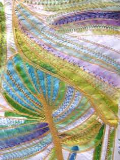 Textile Art by Ingrid EllisExquisite and quirky textile art: stitched textiles, collages, wall quilts, paintings and photographs. Quilting 101, Textiles, Textile Artists, Fabric Art, Colours, Crafty, Quilts, Embroidery, Artwork
