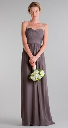 Frocks Modern Bridesmaids - this is slate in crinkle chiffon too ;)