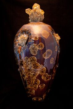 Crystalline pottery to the EXTREME by Tom Wallick.