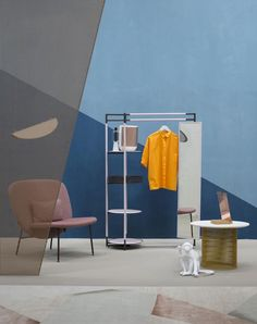 Interni con un mood cubista: mixano metalli industriali, colori caraibici e schermi hi-tech che filtrano la luce /// Cubist mood interiors: industrial materials, caraibic colors  and  hi-tech screens filtering the light • Styling Alessandra Salaris •  Photo Beppe Brancato