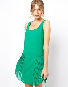 ASOS | ASOS Shift Dress With Pleated Drop Waist at ASOS