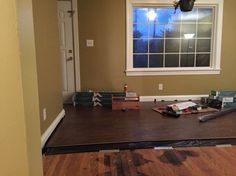 New floors going in the dining room.