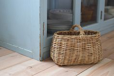 Encachette/アンキャシェット/ショートハンドルバスケット - 北欧雑貨と北欧食器の通販サイト  北欧、暮らしの道具店