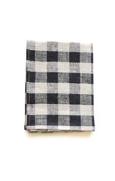 Kitchen Cloth, Black Natural Check / by Fog Linen // from Anaise